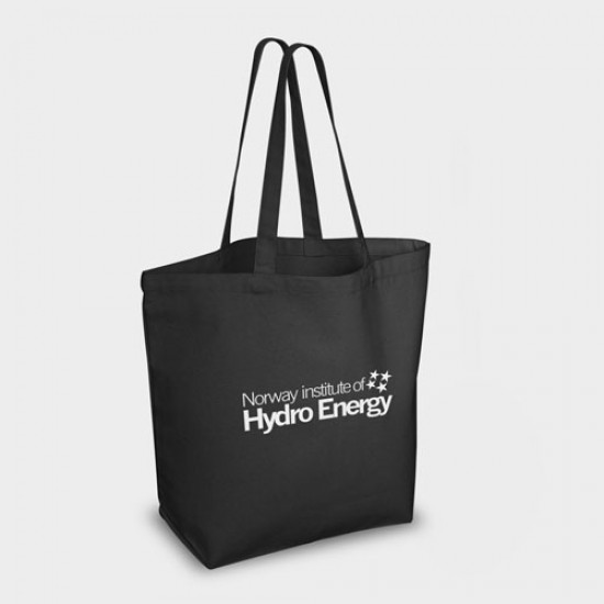 Bayswater Black Canvas Shopper