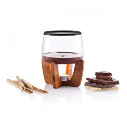 Cocoa chocolate fondue set, black