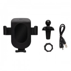 5W wireless charging gravity phone holder, black
