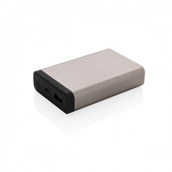 10.000 mAh Aluminium pocket powerbank, anthracite