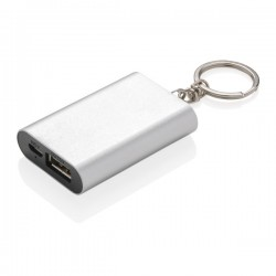 1.000 mAh keychain powerbank, silver