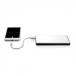 10.000 mAh powerbank with dual input, silver