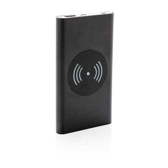 4.000 mAh 5W wireless charging powerbank, black