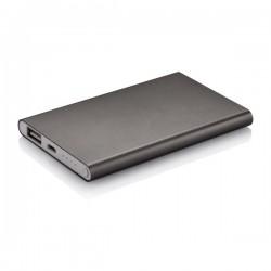 4.000 mAh slim powerbank, grey
