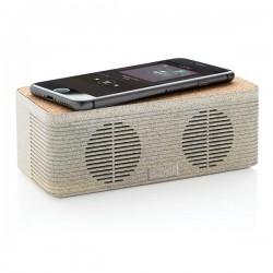 Wheatstraw wireless charging speaker, brown