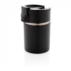 Bogota compact vacuum mug with ceramic coating, black