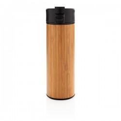 Bogota vacuum bamboo coffee mug, brown