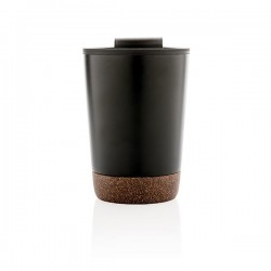 Cork coffee tumbler, black