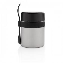 Bogota food flask with ceramic coating, silver