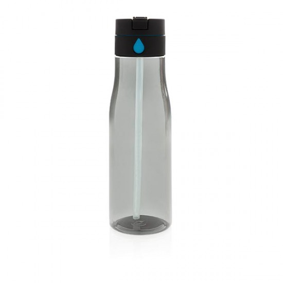 Aqua hydration tracking bottle with spout, black