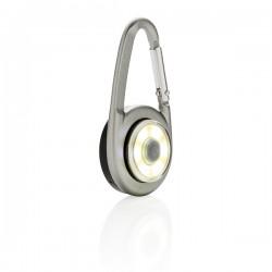 COB carabiner light, grey