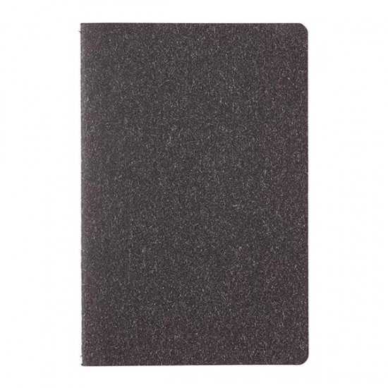 A5 standard softcover slim notebook, black
