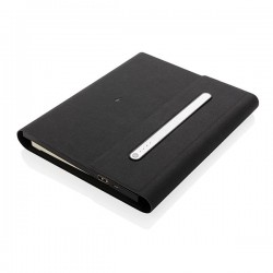 5.000 mAh power notebook A5 with wireless charging, black