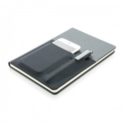 A5 Deluxe notebook with smart pockets, black