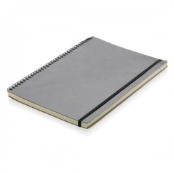 A4 Deluxe spiral ring notebook, black