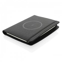 Air 5W RPET wireless charging notebook cover A5, black