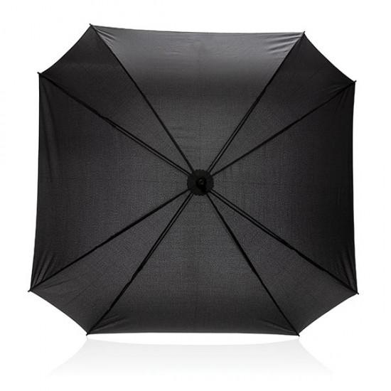 "27"" manual XL logo space square umbrella, black"