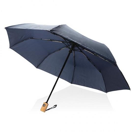 "21"" auto open/close RPET umbrella, navy"
